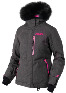 Куртка жен FXR Pursuit, Black Herringbone/ Elec Pink, 4